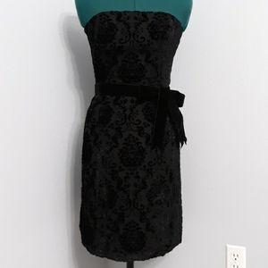 Shoshanna Strapless Elegant crushed Velvet dress